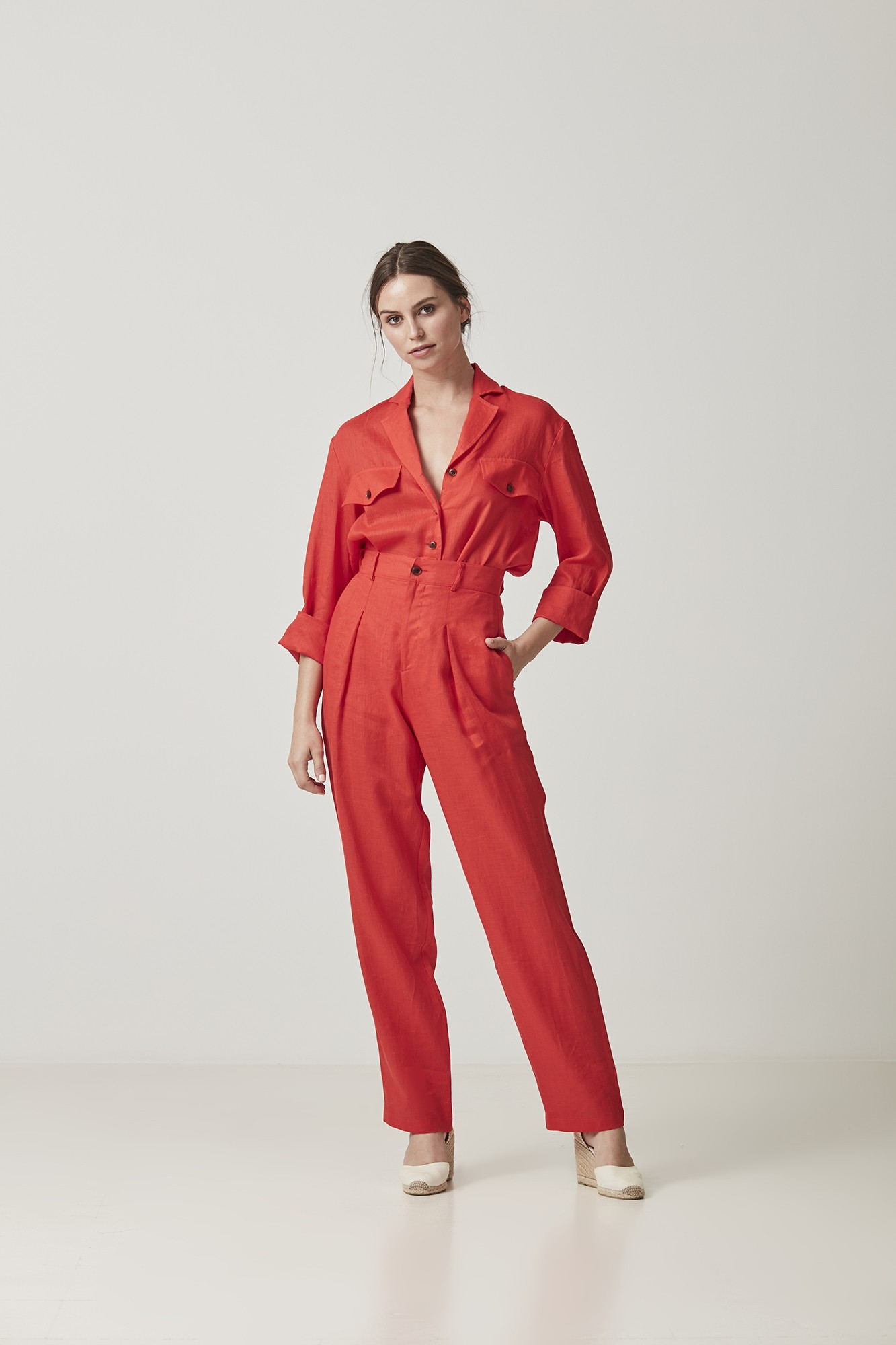 RED MERCEDES TROUSERS