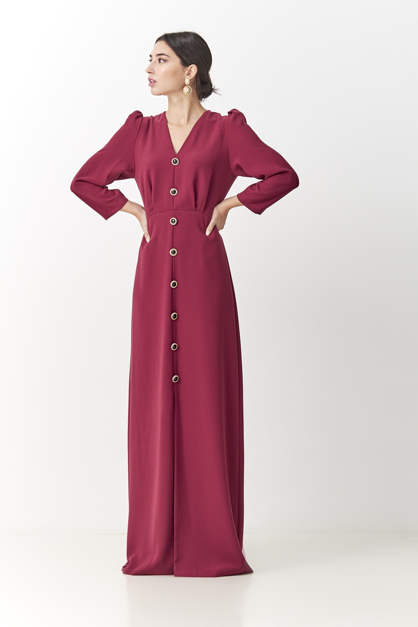 BURGUNDY JUANA FW DRESS