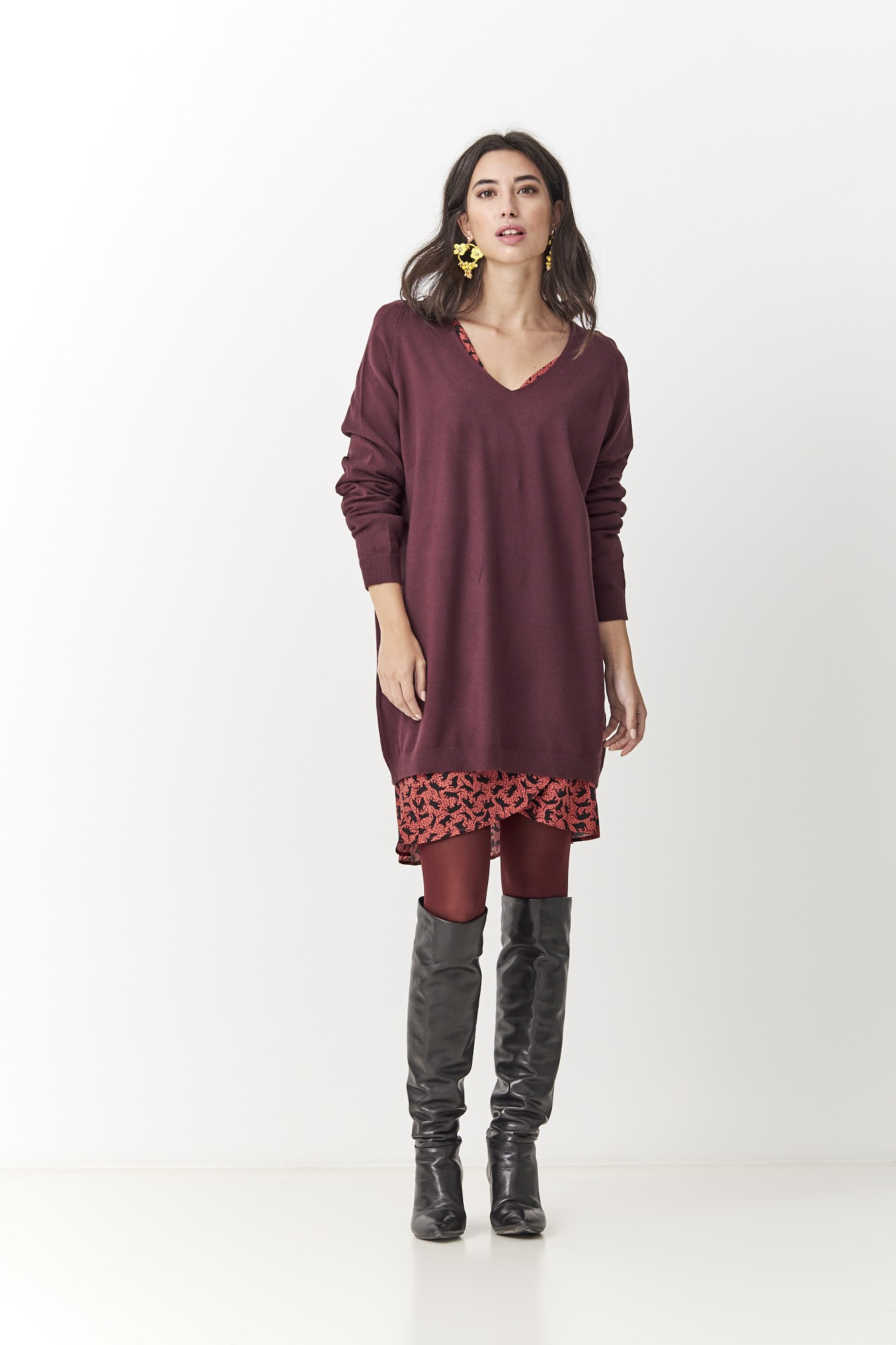 SISTER APOLO BURGUNDY JUMPER