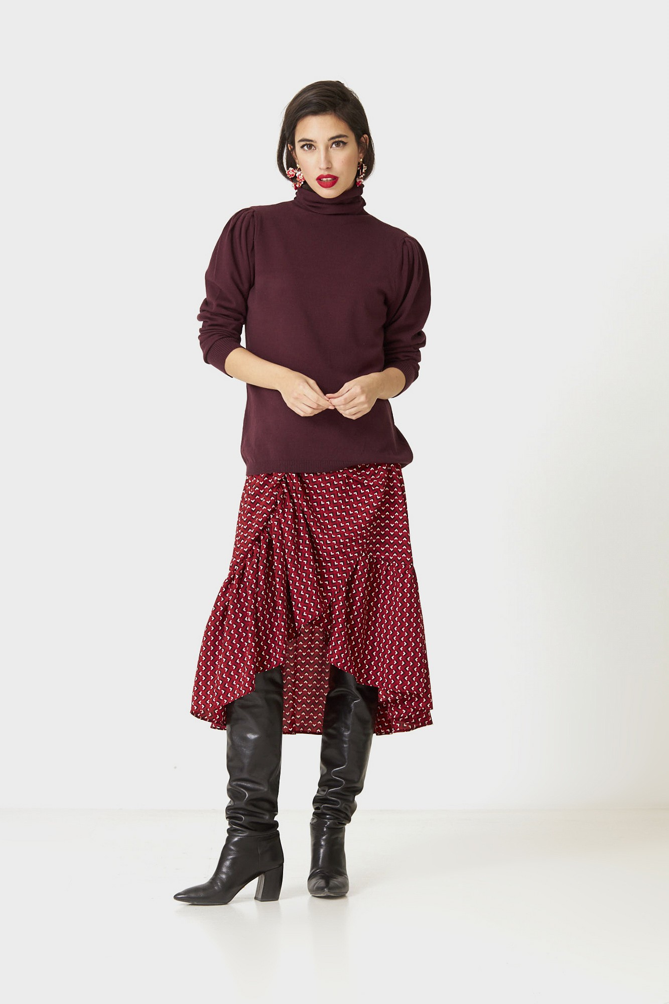 SISTER CLIOPE BURGUNDY JUMPER