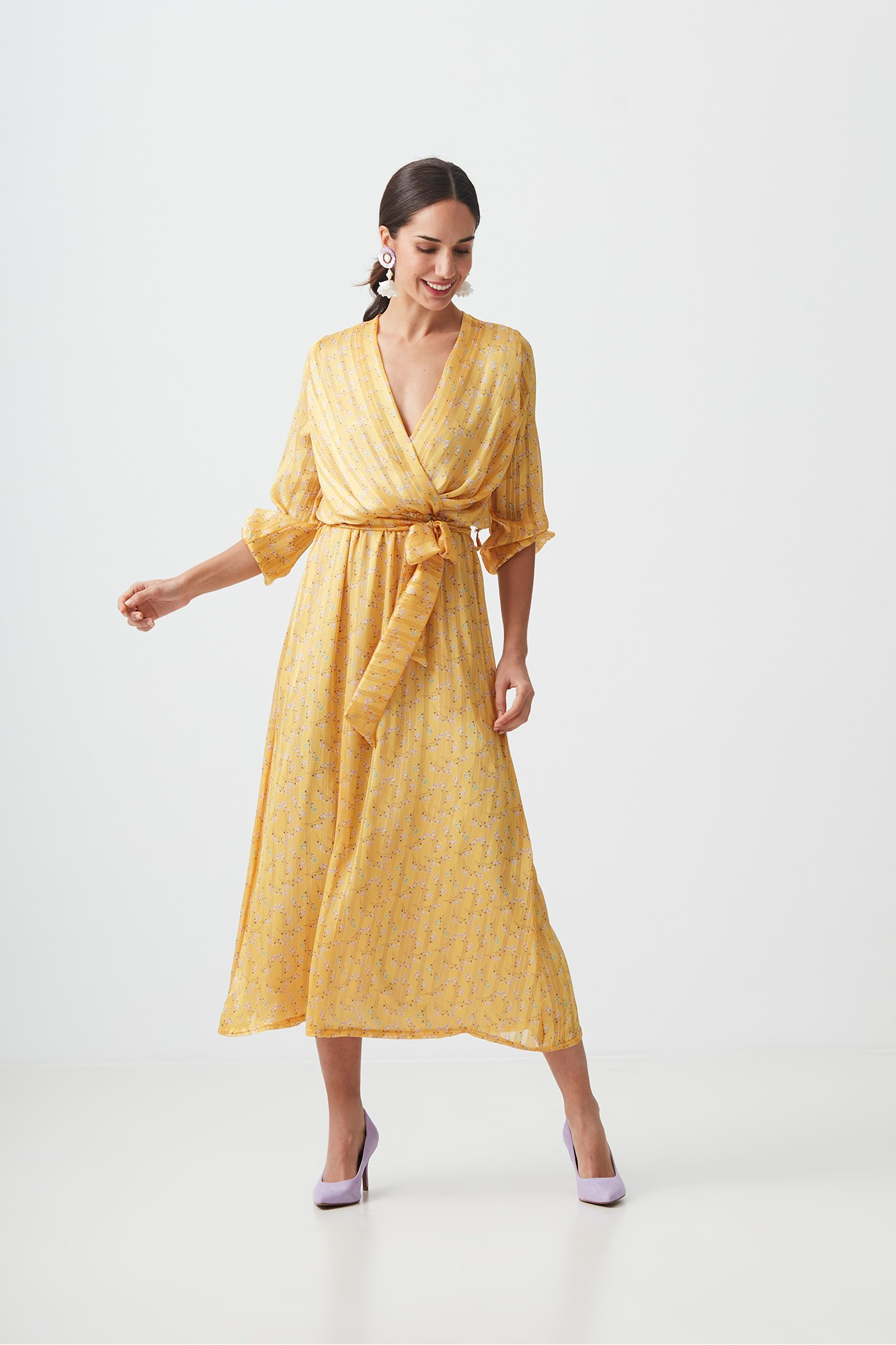 MIRIT YELLOW DRESS