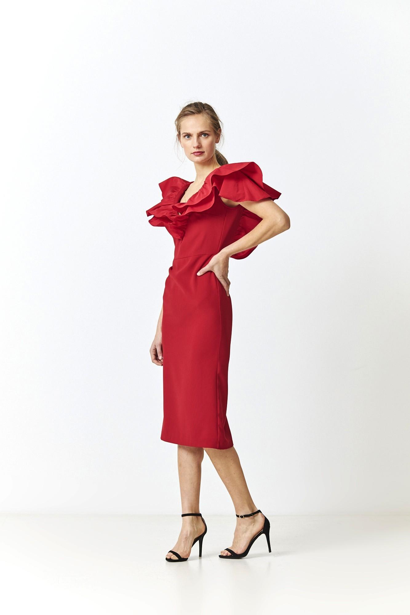 SHARON RED DRESS