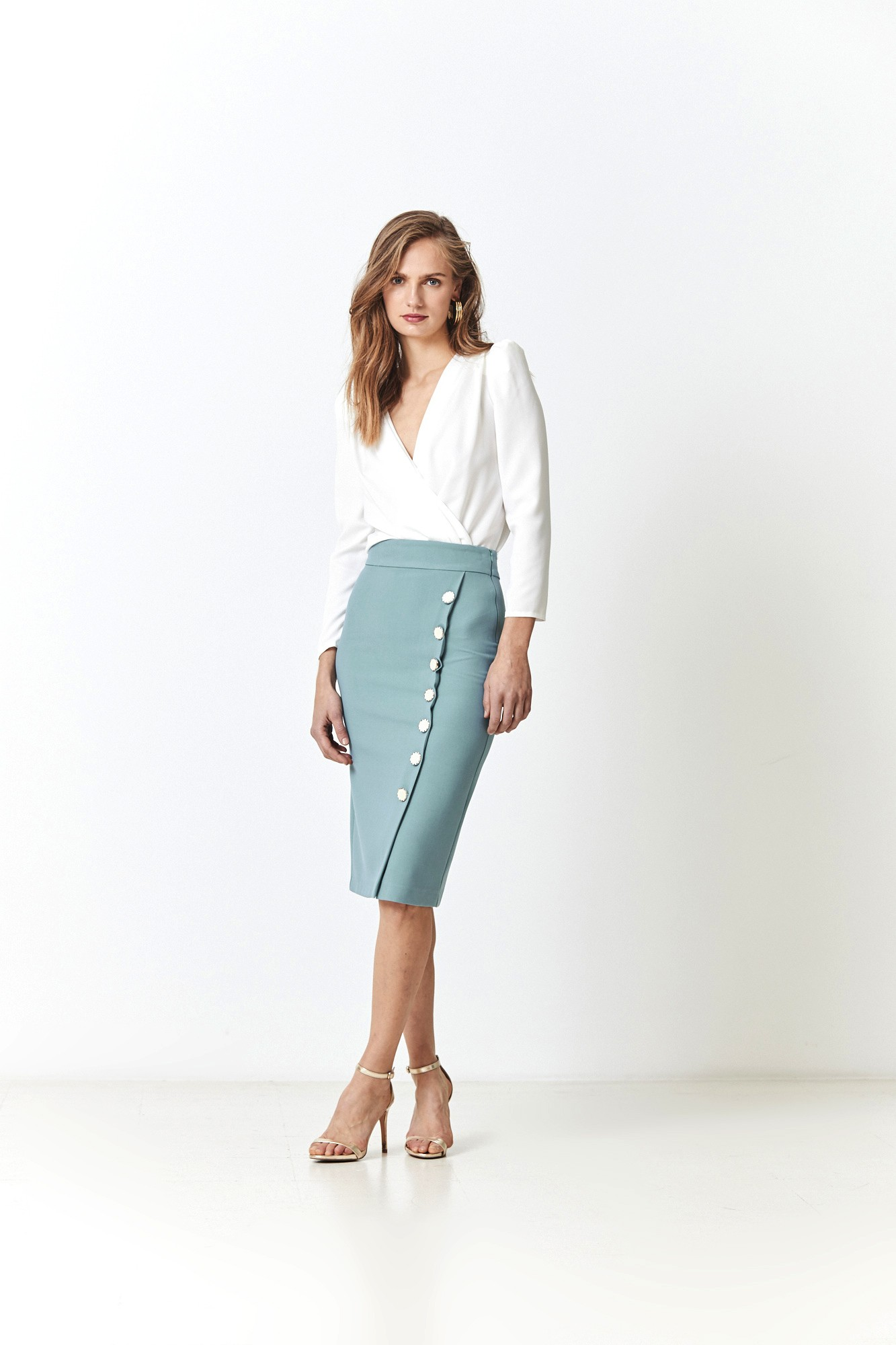 LEONOR BLUE SKIRT