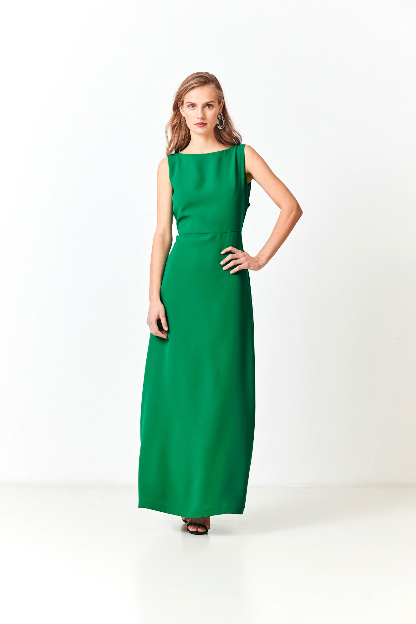 LADY BLACK GREEN DRESS