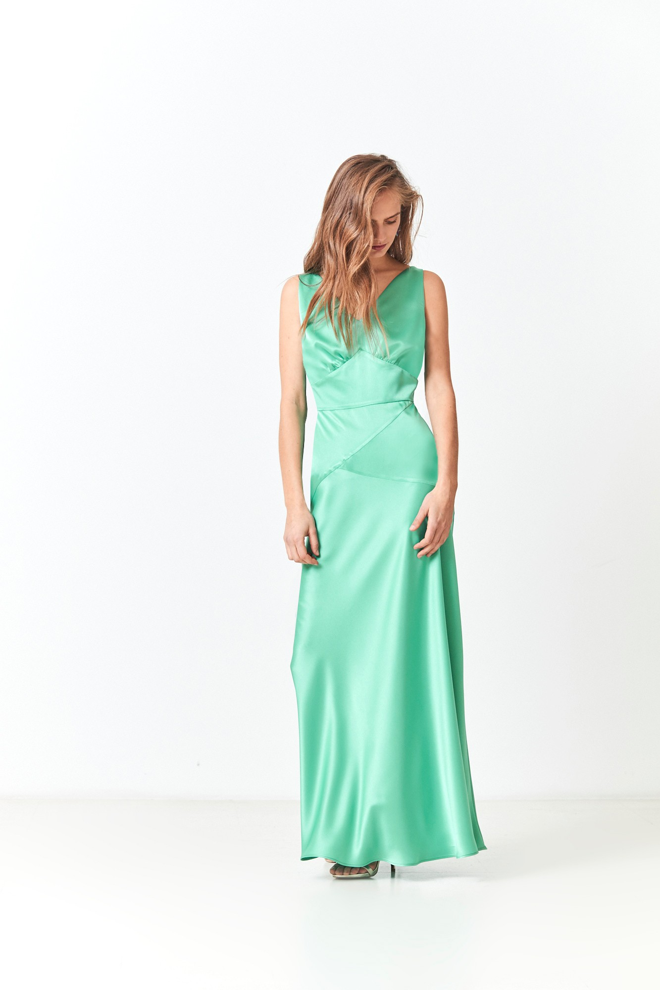 CLAIDA GREEN DRESS