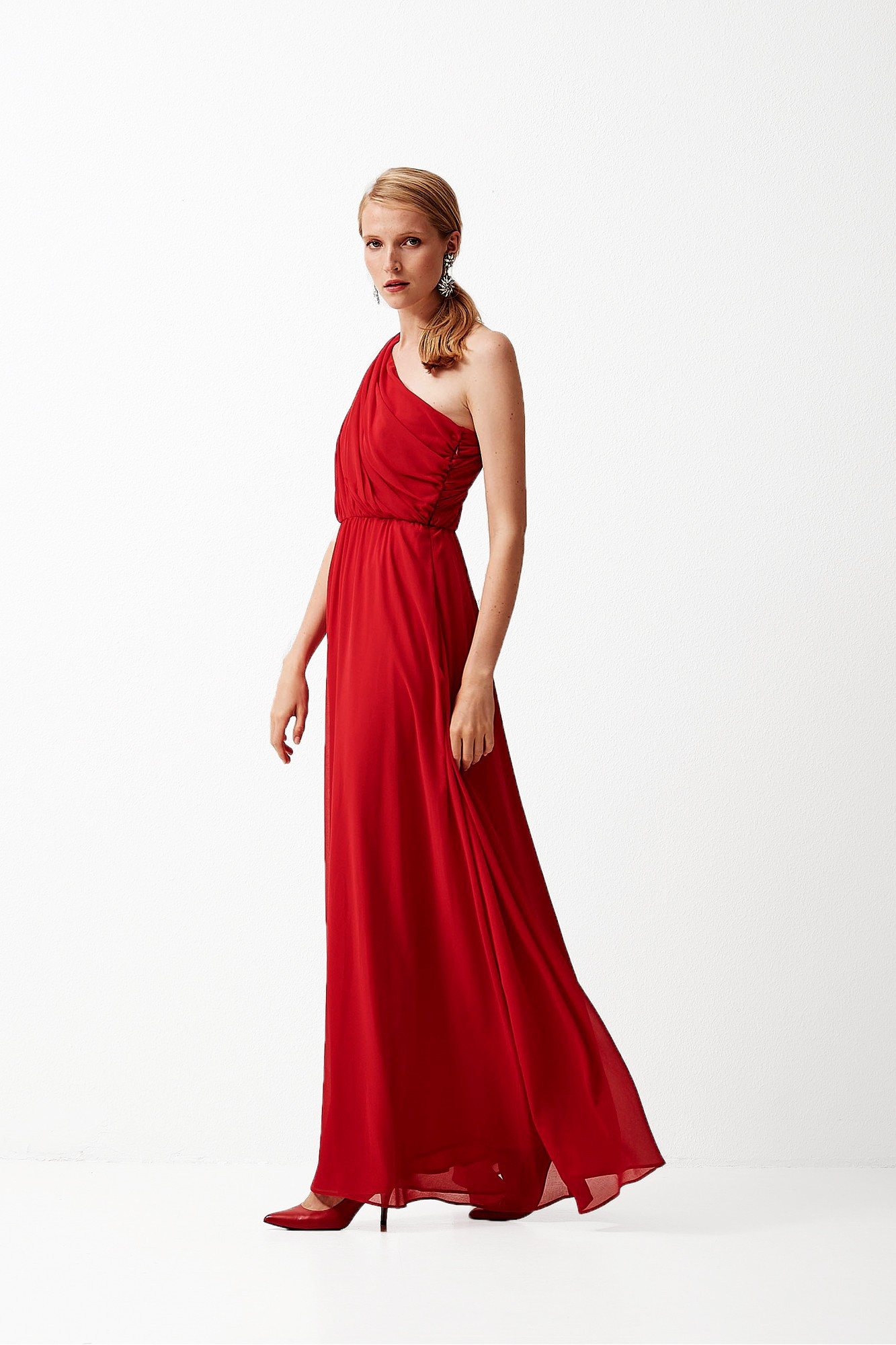 HERMES RED DRESS