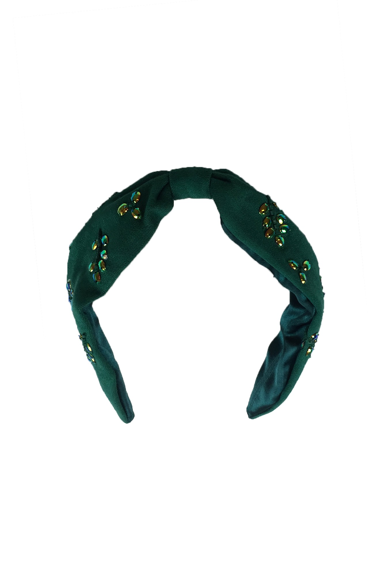 CARON GREEN HEADBAND