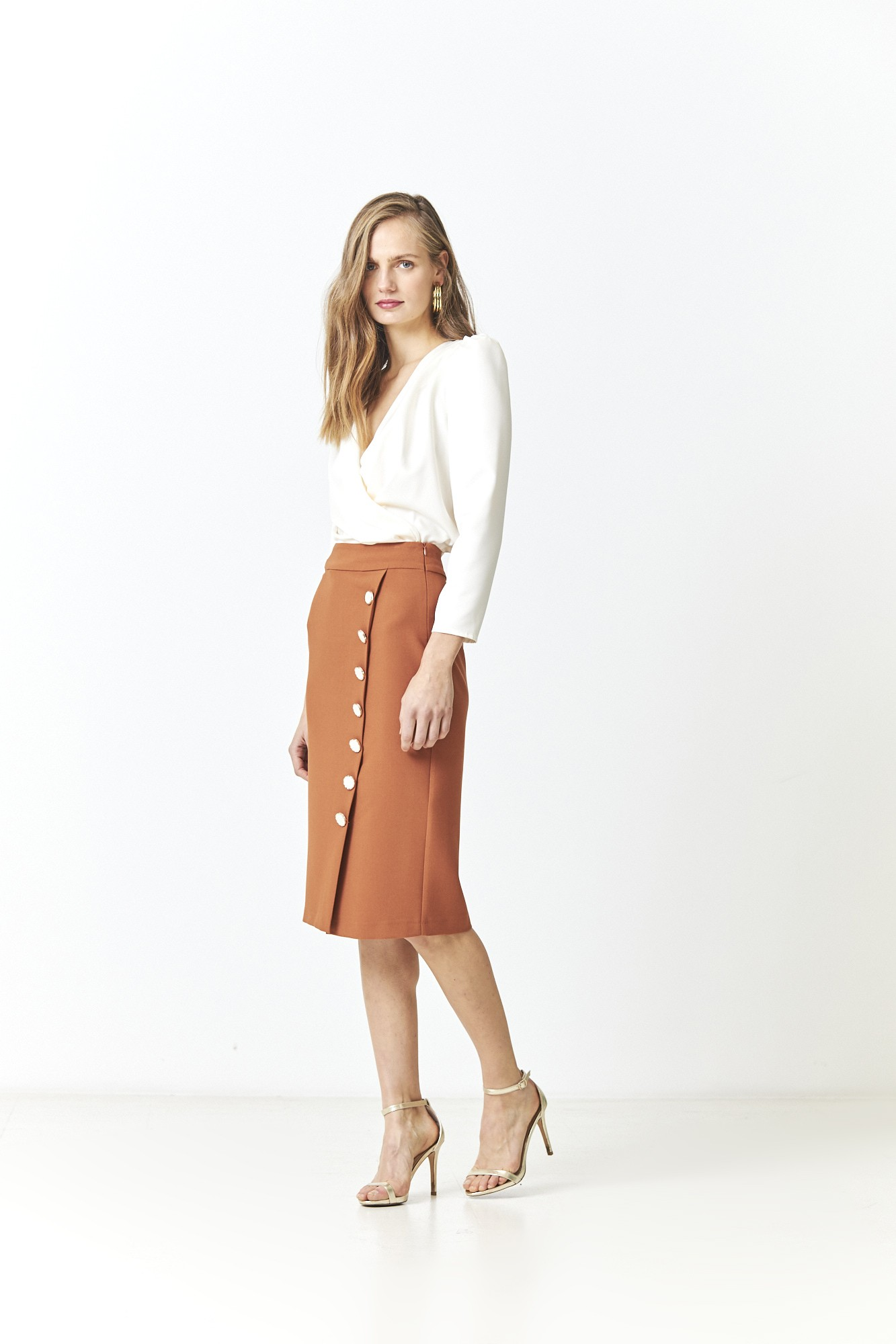 LEONOR ORANGE SKIRT