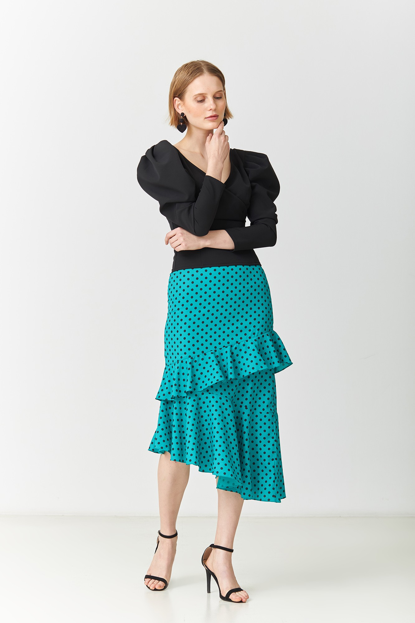 LORETA GREEN SKIRT