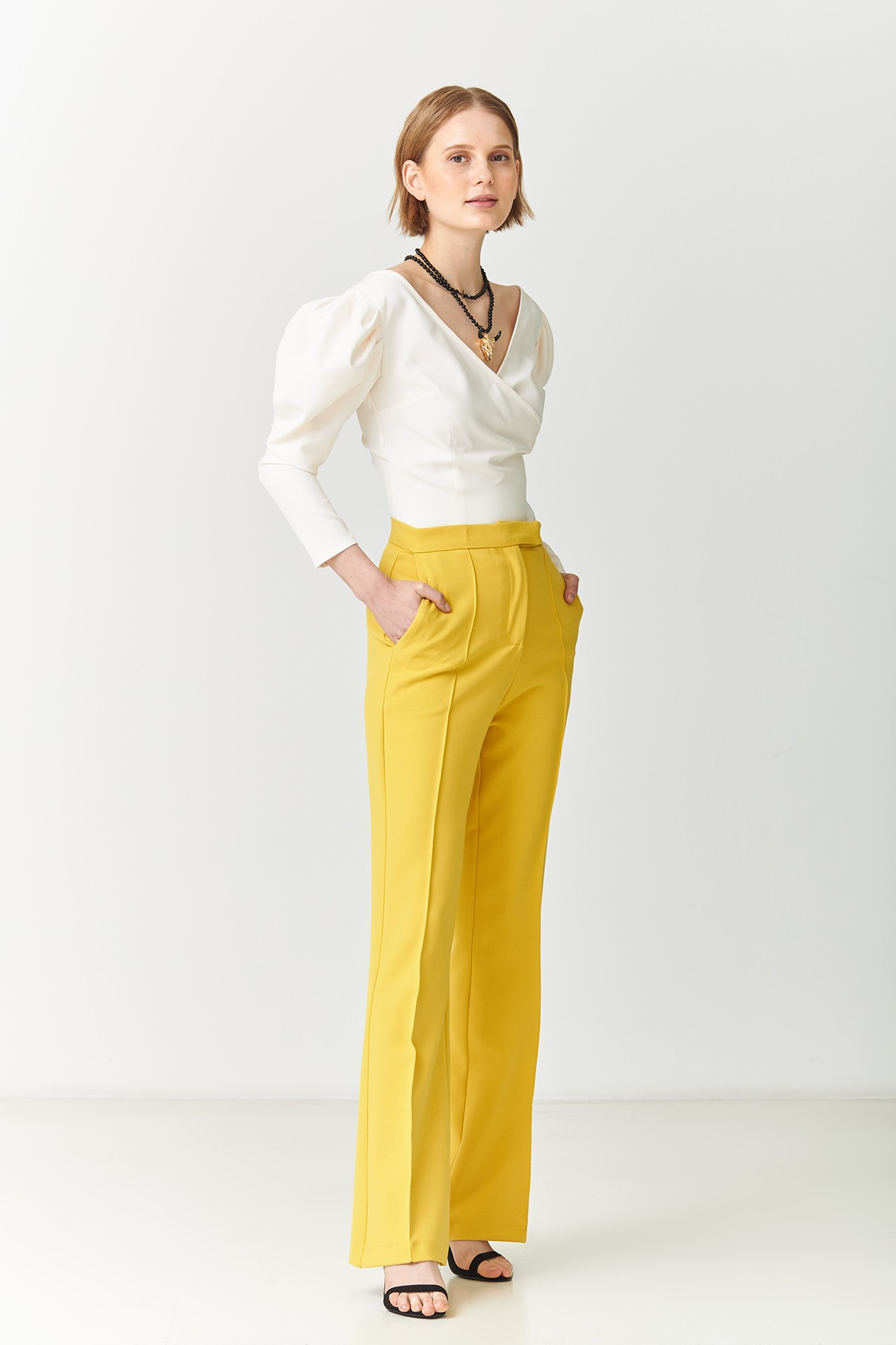MORGANA YELLOW TROUSERS