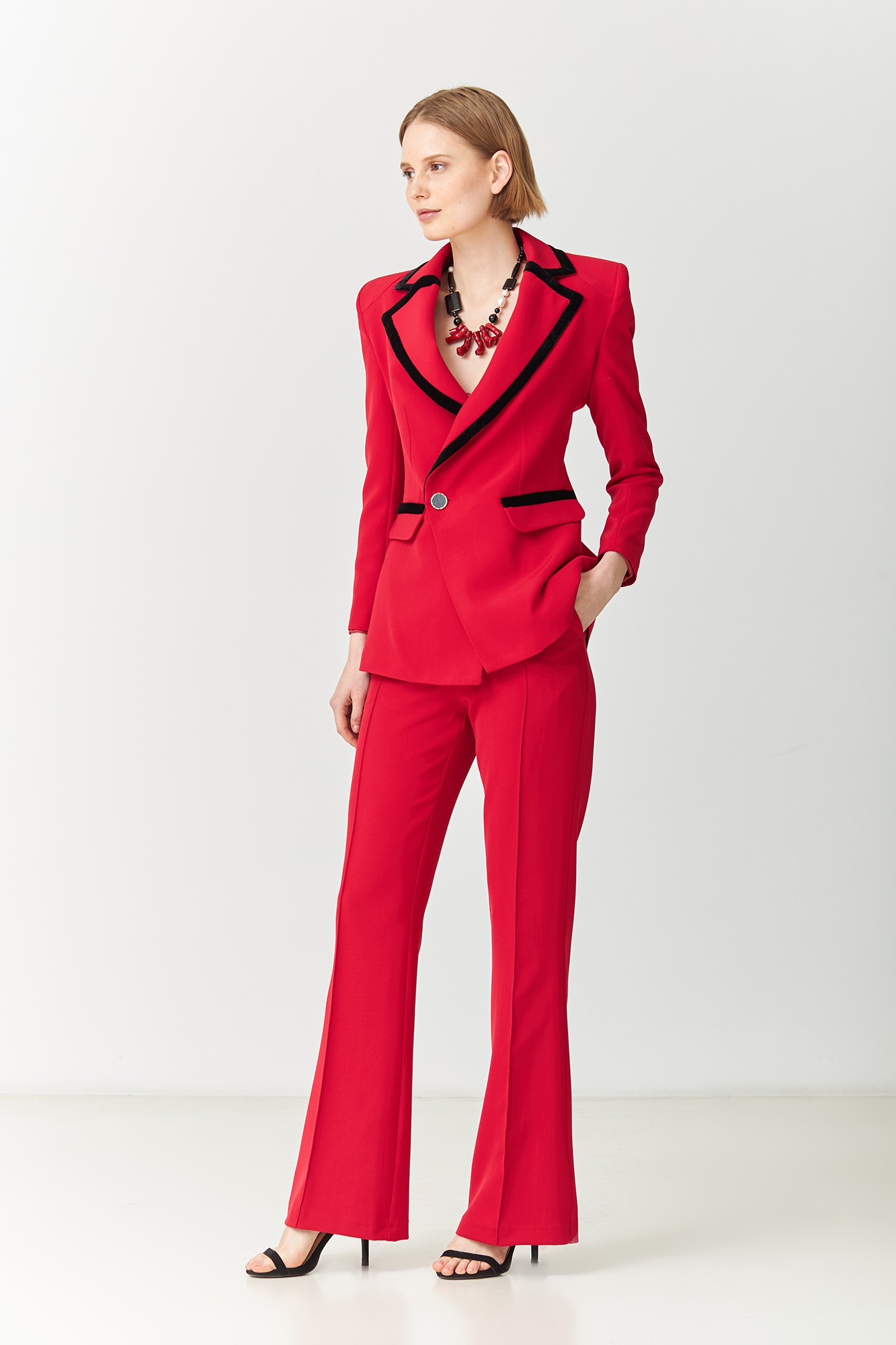 MORGANA RED TROUSERS