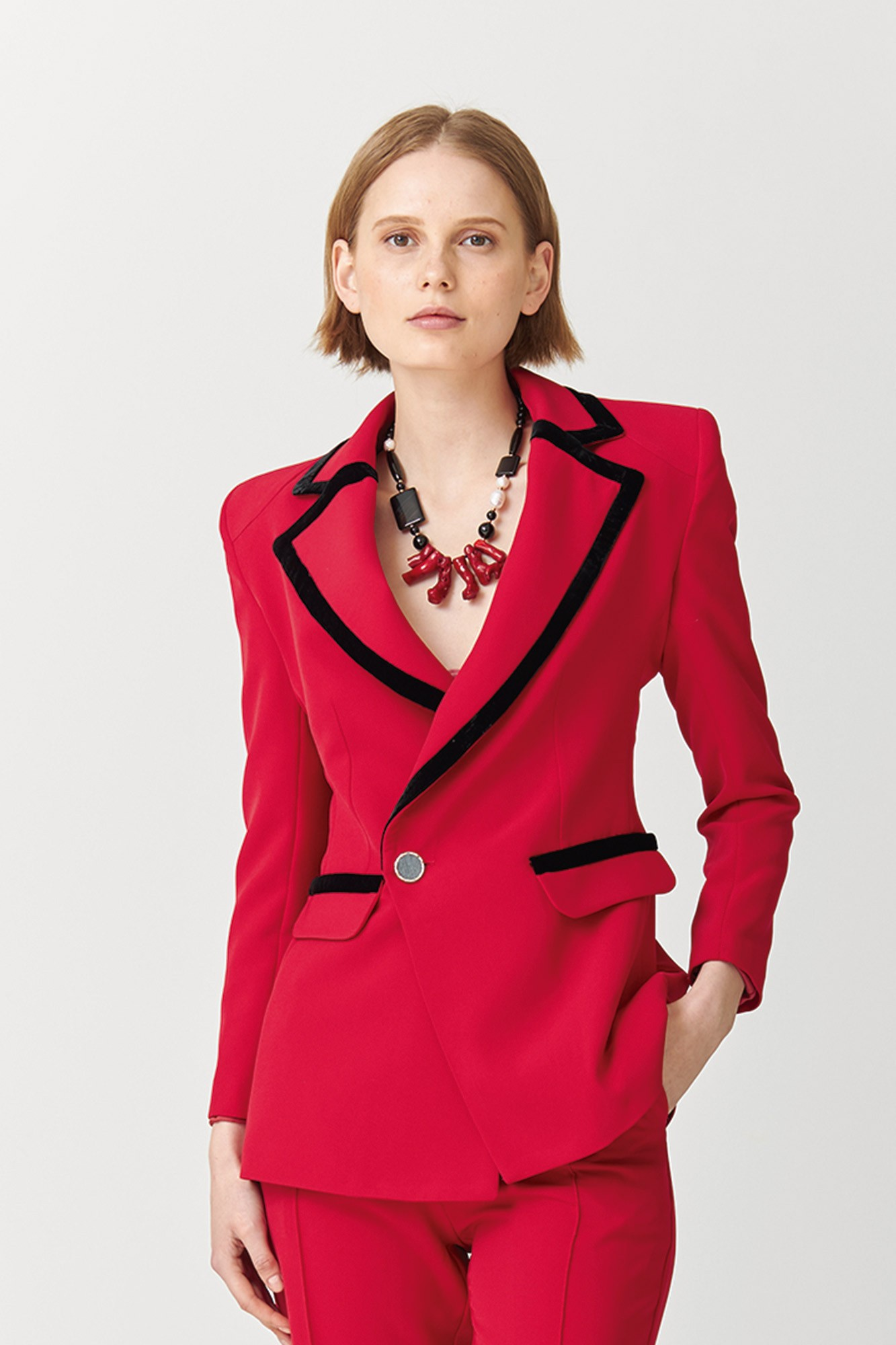 BLAZER MORGANA ROJO