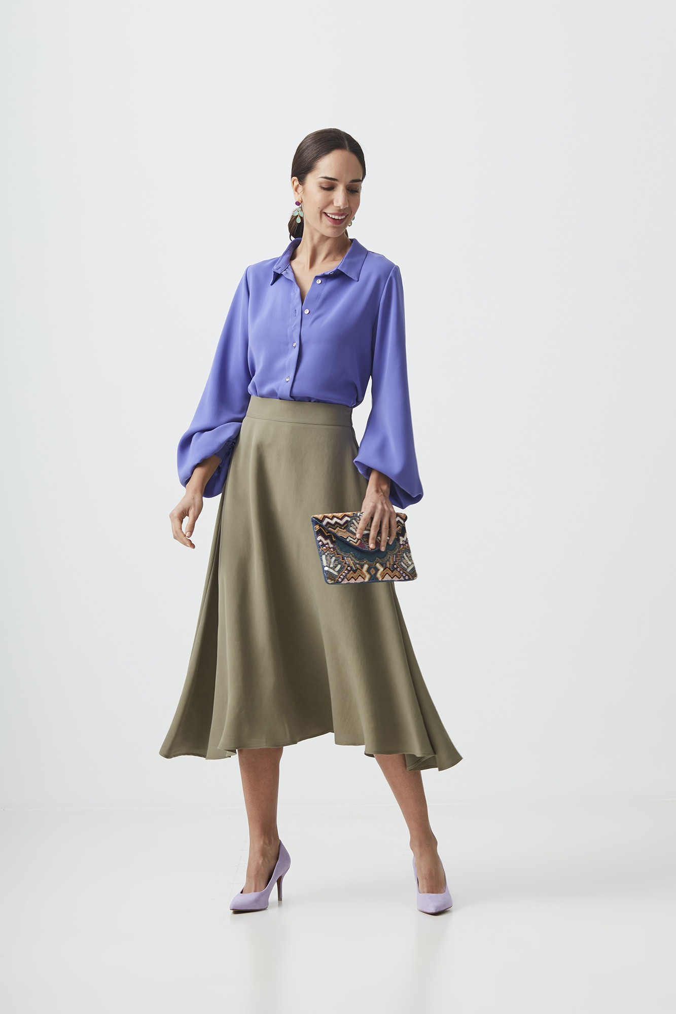 SISTER SAFARI GREEN SKIRT