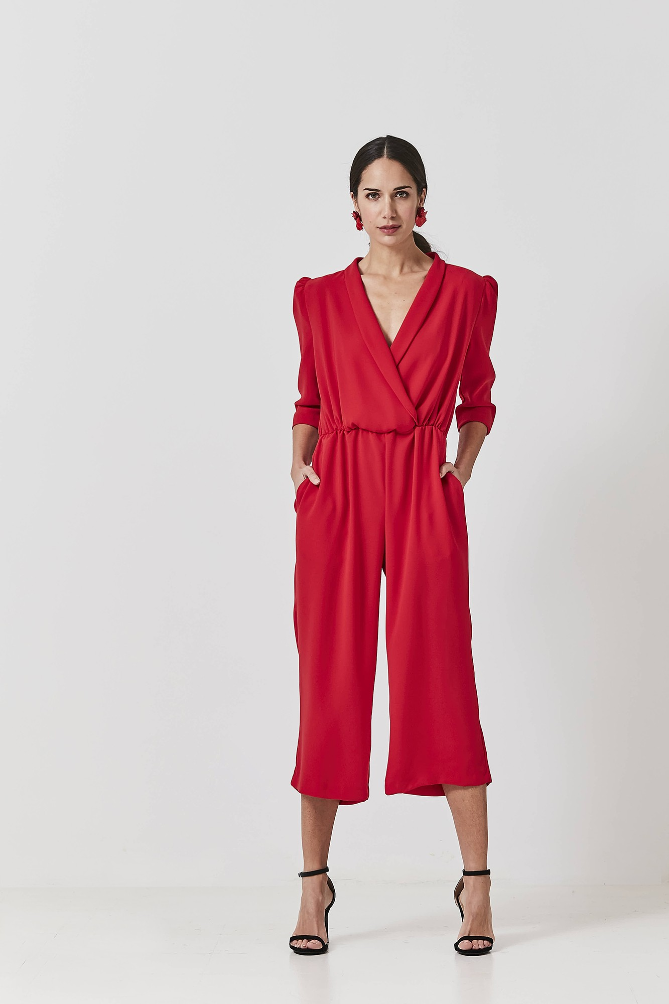 OLIMPIA RED JUMPSUIT