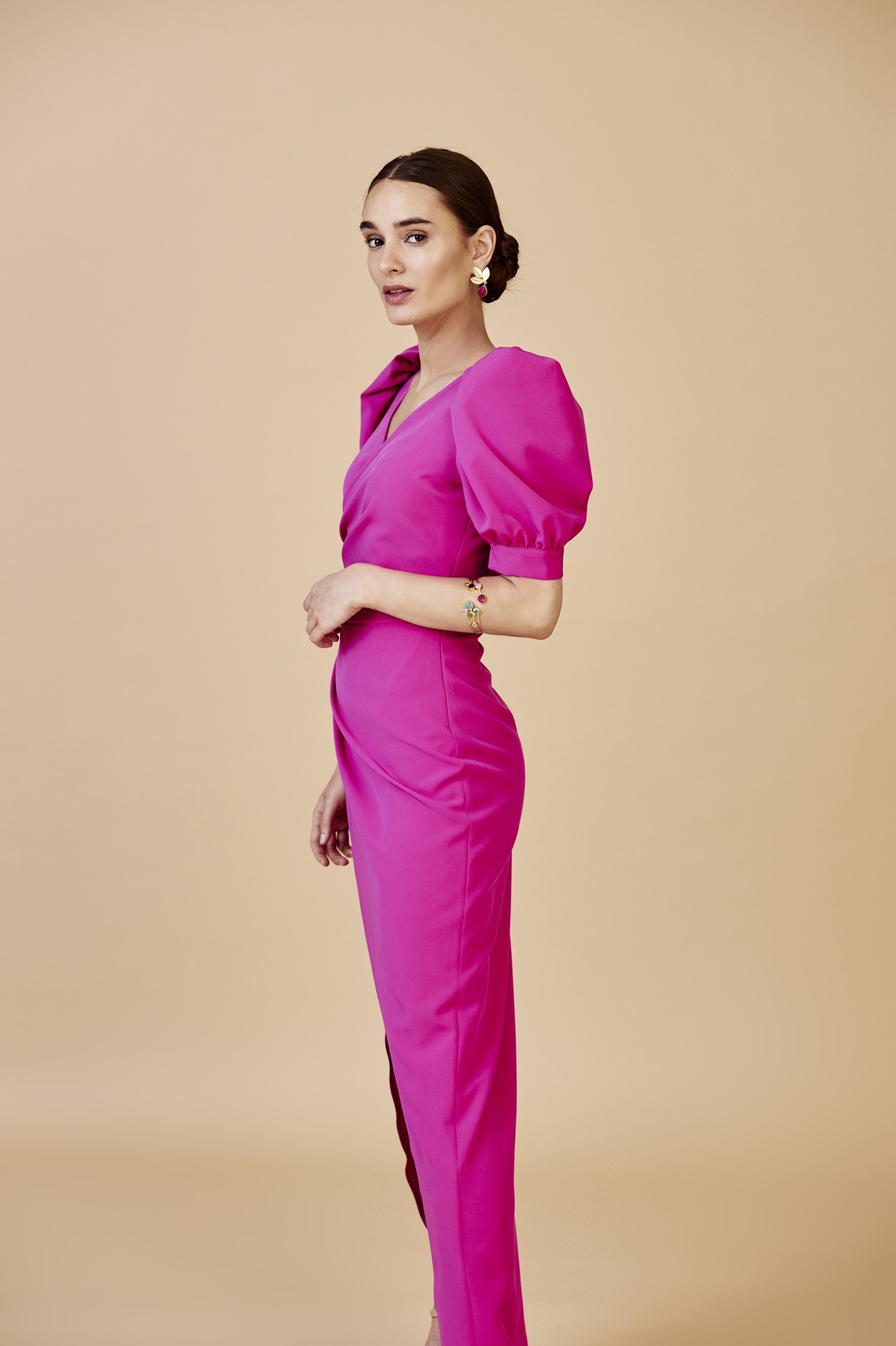 DAIMONIA FUCSIA DRESS