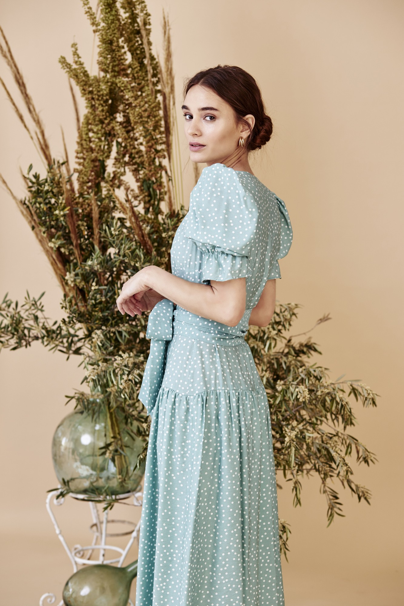 MARTHA GREEN DRESS