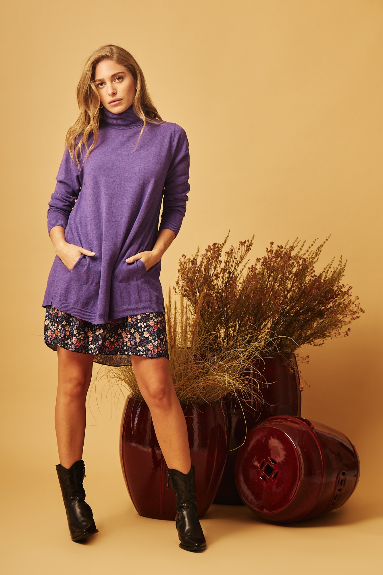 PURPLE CIES SWEATER