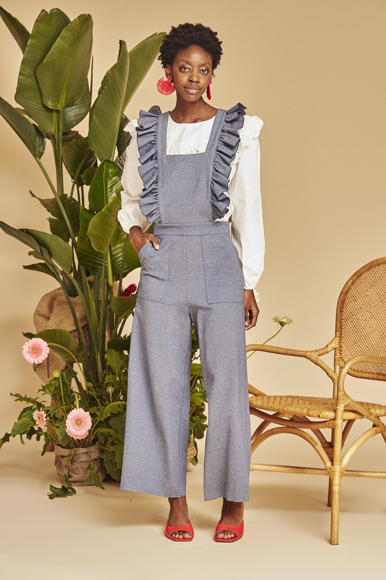 PEPITO LIGHT BLUE JUMPSUIT
